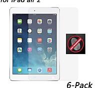 [6-pack] hd anti-huella digital protector de pantalla resistente para ipad aire 2