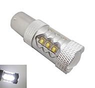 1156 cree ledx16 80w 6500k -7000k lumière blanche Ampoule LED pour voiture (12-24, 1pc)