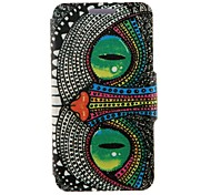 Kinston Special Shining Eye Monster Pattern PU Leather Full Body Cover with Stand for Nokia Lumia 625