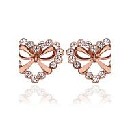 Top Quality 18KRGP Shining Heart Shaped Earrings
