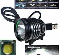 Luci bici , Illuminazione anteriore / Torce frontali / Luci bici - 1 Modo 1000 Lumens Impermeabile / Resistente agli urti Altro x 1 USB
