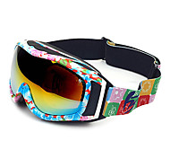 HB Decorative Pattern Frame Double Lens Anti UV Snow Googgles