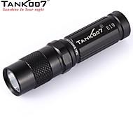 tank007® e19 3-mode 1xcree xpg- R5 LED mini lanterna ao ar livre (180lm, 1x14500 / 1xAA, preto)