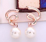 Fashion ZirconTwisted Pearl Earring(Assorted Color)