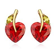 Women's AAA Zircon Earrings - Heart Leaf Boat