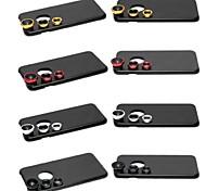 3 in 1 obiettivo grandangolare / obiettivo macro / 180 pesce kit lente dell'occhio set con il caso posteriore duro per il iphone 6 più (colori
