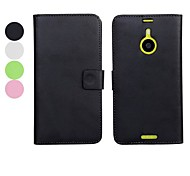 Solid Color PU Leather Full Body Case with Stand and Card Slot for Nokia Lumia 1520 (Assorted Colors)