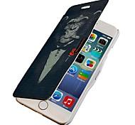 modèle de gorille cigare rabat magnétique de cas complète du corps avec trou pour iPhone 6