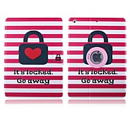 Red Heart Pattern 360 Degree Rotation PU Leather Full Body Case with Stand for iPad 2/3/4