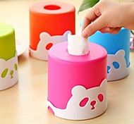 Panda Shaped Plastic Tissue box(Random Color)