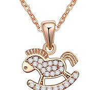 Women's  Zircon AAA Micro - Small Trojan Pendants Necklaces