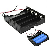 DIY 4-Slot Parallel 18650 Battery Holder w/ 2 Leads