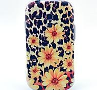 fleurs motif léopard jaune étui pour mini i8190 samsung galaxy