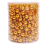 contas de cena pingentes bola 5m ouro ornamentos decorações de natal suprimentos de férias / nochi