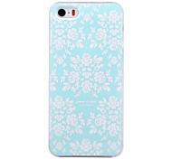 weiße Blumen-Muster Prägung PC Hard Case für iPhone 5 / 5s