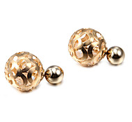 Fashion Rotundity Crystal Multicolor Alloy Stud Earrings (1 Pair)(Silver,Golden)