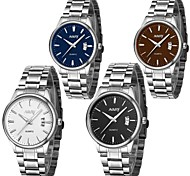 NARY Men's Stainless Steel Quartz  Elegant Style   Dress  Watch  (Assorted Colors)