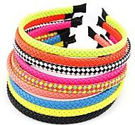 Fashion Wild Fluorescent Colors Braided Headband (Random Color)