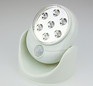 360 Degree Rotation Wireless Design White 7 LED Sensor Night Light (2xAA)