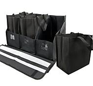Tirol dobrável organizador tronco com 3 sacolas 5 peças caixa de armazenamento de carro kit nylon resistente