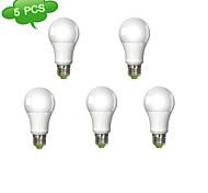 15W E26/E27 LED Kugelbirnen A60(A19) 1 Integriertes LED 1260 lm Warmes Weiß AC 100-240 V 5 Stück