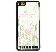 Personalized Phone Case - The Best Flower Design Metal Case for iPhone 5C