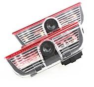 2 X CREE car door light ghost projector emblem For VW Golf 6 GTI JETTA MK5 MK6 CC Tiguan Passat B6