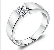 925 Sterling Silver Gentleman Generous Wedding Ring Men's Ring