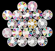 20 PCS Nail Art Decoration Wheels