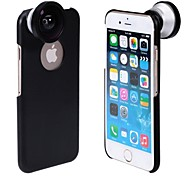 Detachable Screw-in Super Wide Angle Lens 0.4X  with Hard Back Case for iPhone 6