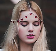 мода красота кистями украшения многоцветной сплава волос (1шт) (красный, черный)