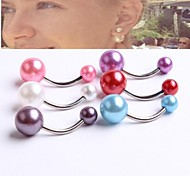 Imitation Pearl Body Jewelry  Navel Belly Button Ring Girl Earring