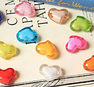 Qihang Heart-shaped Acrylic Bead Photography Props(1 PCS,Assorted Colors)