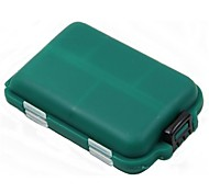 MINI Green Double-faced 10 Squares Fishing Tool Plastic Boxes for Fishing Parts