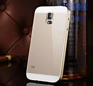 Two-in-one KX Brand Metal Frame Acrylic Mirror Backplane Metal Hard Case for Samsung Galaxy S5