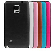 ENKAY Crazy Horse Texture Leather Skinning TPU Soft Case for Samsung Galaxy Note 4 N9100 (Assorted Colors)