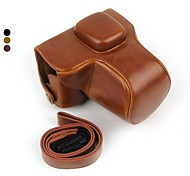 Dengpin Retro PU Leather Oil Skin Camera Case Bag Cover for Olympus PEN E-PL7 EPL7 with 17mm/14-42mm Lens
