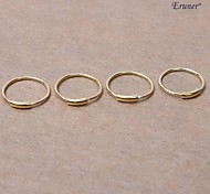 Eruner® Small Sterling Silver Hoop Nose Rings(4PCS)