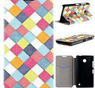 cinturón de tejer de color cuero de la PU caso de cuerpo completo con ranura para tarjeta para Nokia Lumia 630 635 630 ds 630 dual sim