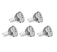 5 pcs GU10 4W 4 High Power LED 360 LM Warm White LED Filament Bulbs AC 220-240 V