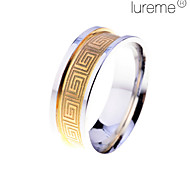 anillo de acero inoxidable geométrica de lureme®men