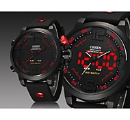 Man's  Digital LED Date Day Alarm Men's Sports Diver Outdoor Quartz Silicone Strap Watch Cool Watch Unique Watch