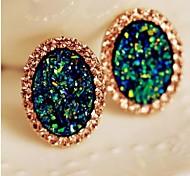 Damen Ohrring Legierung Kristall Stud Earrings