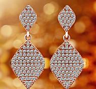 Rose Gold Plated Earrings Jewelry,in 925 Sterling Silver Earrings Jewelry,Cubic Zirconia Earrings,Women's Earrings