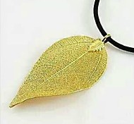 Women's Classic Fashion Pendant Gold Plated Brass Leaves Gold Leaf (Note: Specifications Size Random Hair)