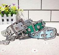 colliers pour animaux de compagnie en cuir PU de haute qualité pour petits chiens