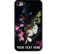 personalisierte-Tasche - Blumen-Design-Metallkasten für iphone 4 / 4s