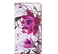 Water Lily of Ink Style Pattern PU Leather Full Body Cases with Stand for Nokia Lumia N535/Microsoft Lumia N535