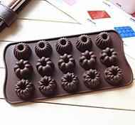 15 Loch 3 Satz von Musterkuchenform Eis Gelee Schokoladenform, Silikon 23 x 10 x 0,5 cm (9,1 x 3,9 x 0,2 Zoll)