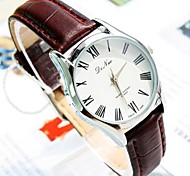 Women's Round Dial PU Band Quartz Fashion Watch  (Assorted Colors)